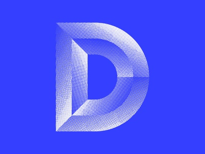 Beveling this D blue texture logo design icon design logo icon vector lettering typography 36daysoftype07 36daysoftype