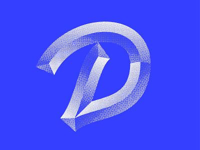 More Bevels lettermark 36days-adobe halftone texture halftone logotype script lettering script baseball texture blue logo design icon design logo icon lettering typography 36 days of type 36daysoftype07 36daysoftype