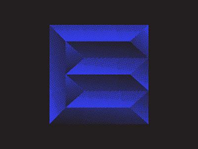 Eeeee! black 36days-adobe halftone texture halftone lettermark chrome bevel blue texture graphic design logo design icon design logo icon branding lettering typography 36daysoftype07 36 days of type 36daysoftype
