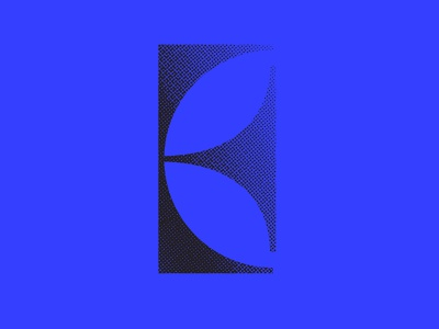 E branding texture icon design icon lettermark lettering typography halftone texture halftone logodesign logo blue black 36 days of type lettering 36 days of type 36daysoftype07 36daysoftype