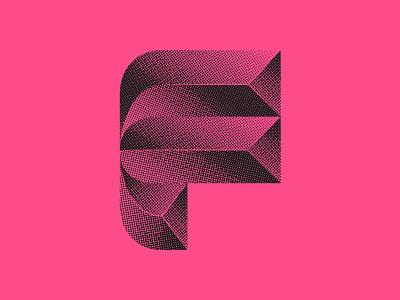 Beveled halftone bauhaus modern bevel chrome logo design vector icon design icon logo identity branding lettering typography 36 days of type lettering 36 days of type 36daysoftype07 36dayoftype