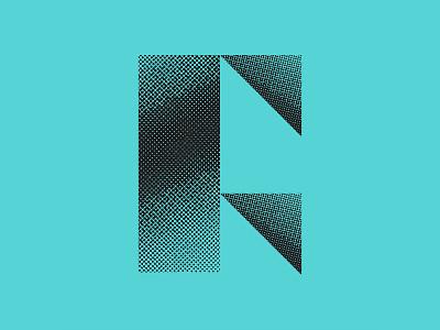 F4 bauhaus modern cyan triangle halftone texture vector logo design icon design icon logo identity branding lettering typography 36 days of type lettering 36 days of type 36daysoftype07 36daysoftype
