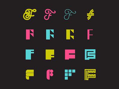 F^16 logo exploration branding lettering identity script lettering typography logo design icon design logo icon script 50s 70s chrome bevel 36 days of type lettering 36 days of type 36daysoftype07 36dayoftype