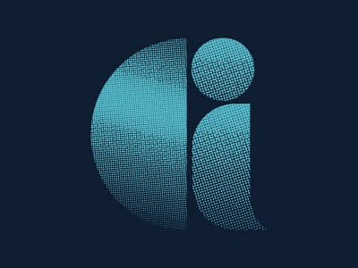 G2 typography lettering font design icon logo design logo identity branding branding design cyan halftone texture halftone vintage bauhaus 36 days of type lettering 36 days of type 36daysoftype07 36daysoftype