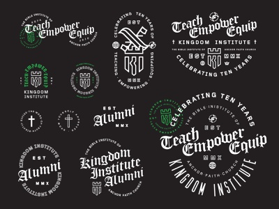 10 Year Flash Sheet badge logo badge green black and white blackletter flash sheet graphic desgin illustration vector logo design icon design icon logo identity branding lettering typography