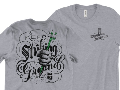 Keep Striking Mocked textures shirt apparel texture illustration vector logo design icon design icon logo identity branding lettering typography
