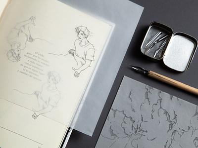 Melancolia: Illustration and Editorial Design graphicdesign design editorial illustration editorial art editorial design ink illustration inking lineart illustration
