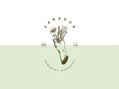 Sanador logo design illustration logo branding