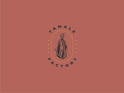 Tamale Factory illustrator tamales logotype vintage vintage logo corn mexican food earthy mexico vector illustration logo design logo branding branding design