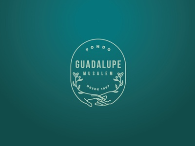 Draft: Fondo Guadalupe Musalem logo proposal floral hands foundation identity branding design branding flower logo design logodesign logo
