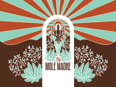 Tu Mole Madre mexican food cacao chili agave mole mexico mexican branding design branding logo design mural logo