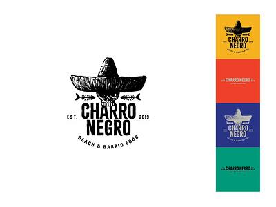 Charro Negro mexican food restaurant logo mexican mexico charro skull branding design branding logodesign logo design logo