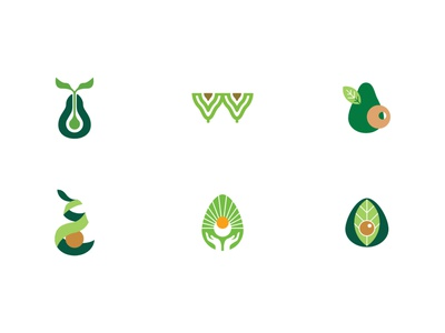 Avocado symbol - samples branding design branding aguacate avocado logotype logotipo imagotipo imagotype symbol logo