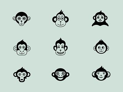 Character samples monkey logo design branding design branding logo symbol character character design