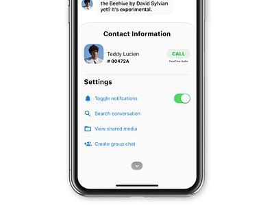 Contact app ios ux ui
