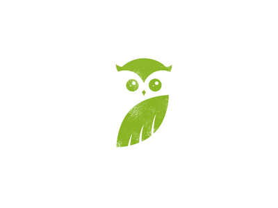 Owl vector shape round nature mark logo illustration design branch body bird animal