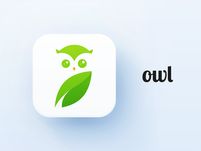 owl vector shape round nature mark logo illustration design ui icon bird animal