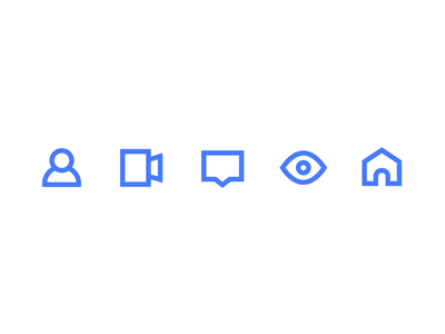 icon vector ui ios design color home eye chat message video account