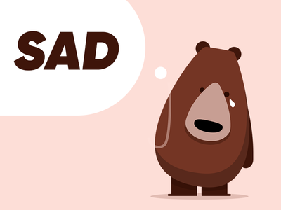 sad bear sad bear vector illustration identity cute tear cry
