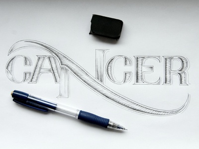 Cancer cancer calendar typography lettering hand-drawn series zodiac sign