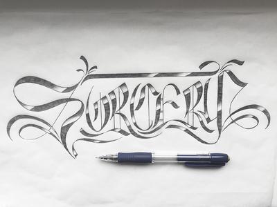 Sorcery typography lettering handtype handlettering blackletter sorcery
