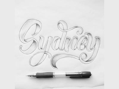Sydney type typographie handlettering script handtype lettering typography