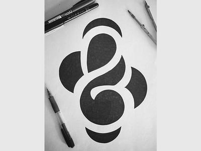 Minimalistic Ampersand type typographie handlettering script handtype lettering typography contemporary modern minimalistic minimal ampersand