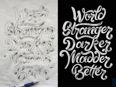 Doctor Who doctor who hand-lettering better madder world elton pope shading hand-drawn type lettering typography
