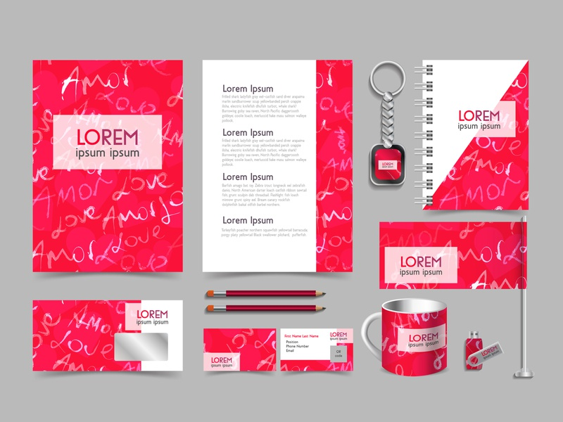Branding design kit for marriage agencies and blind dates