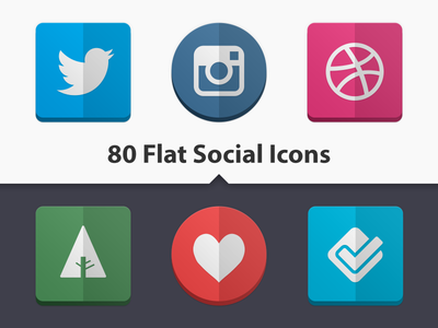 80 Flat Social Icons icon flat social icons twitter google button linkedin clean simple minimal fold dribbble instagram forrst blogger facebook lastfm media media icon network