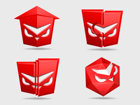 A set of product icons