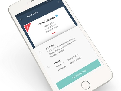 User Info Screen - Mobile
