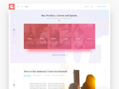 Landing Page, Feature Folds