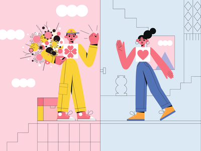 Flower delivery room flowers flowers illustration vector illustration