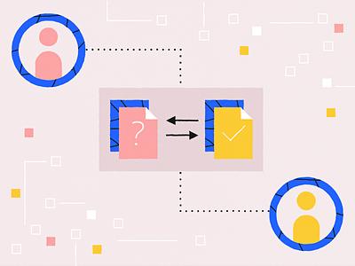 Data exchange data exchange logo interface vector design illustration