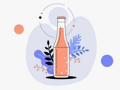 New shot bottle bottle design art icon vector design illustration