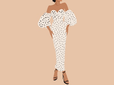 Elegant girl in dress fashion dress elegant character characters character design illustrator illustration art illustration graphic design flat design art girl