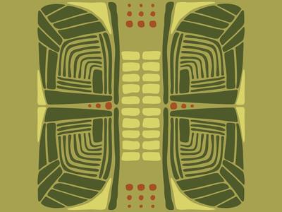 Safari Wings safari wings interior design surface design patterns vector illustration abstract art design