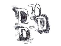 """""""D"""" drop cap (sketch)"""