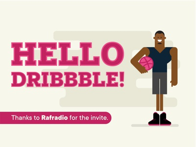 Hello Dribbble_First Shot vector artwork nigeria lagos vector flat illustration hello dribbble first shot dribbble flat character illustration vector illustration