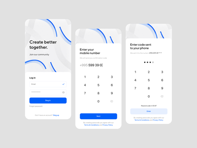 Sign Up Mobile Form account create account create password number login login form illustration clean design app ui mobile minimalistic clean ui