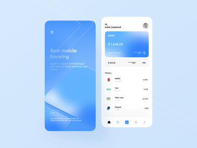Digital Bank card money management money transfer money app money wallet bank card banking app banking bank login account clean mobile design ui app minimalistic clean ui
