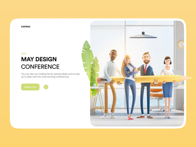 Design Conference register registration form register form registration character meet meetings meeting meetup illustration clean conference design ui minimalistic clean ui