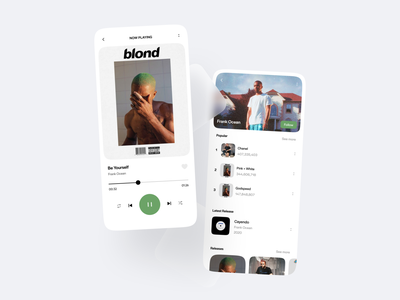Music streaming audio player music player music stream streaming mobile clean design app clean ui ui minimalistic