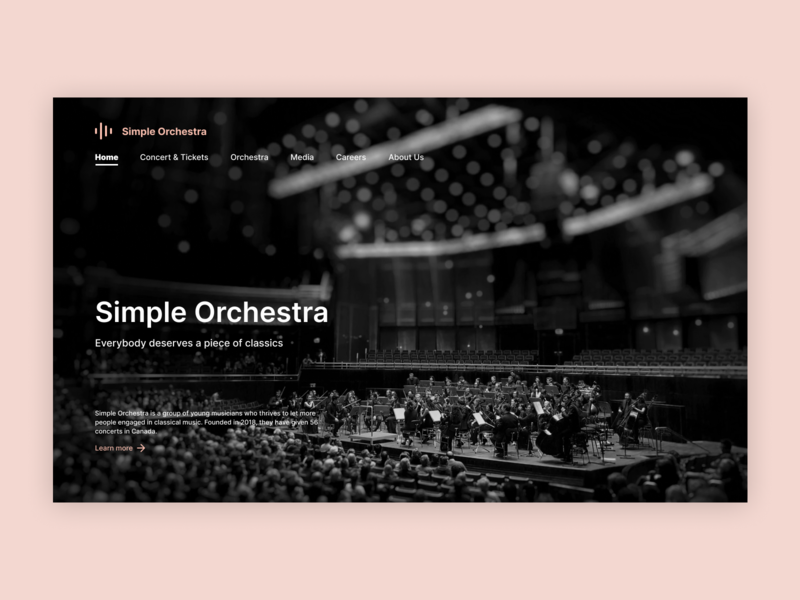 Landing Page for Simple Orchestra