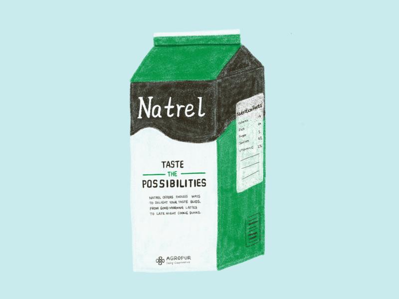 Milk Box Illustration