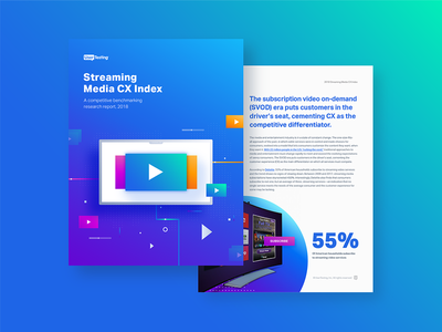 Streaming Media CX Report whitepaper layout design illustration