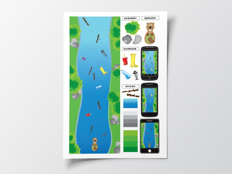 Benson's Journey Home | Game Design Concept character design animation illustrator premiere pro color palette sketch ux ui game interface design game design mobile app design