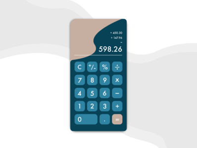 Calculator App challenge adobe xd calculator ui calculator app calculator behance mobile ux design ui design