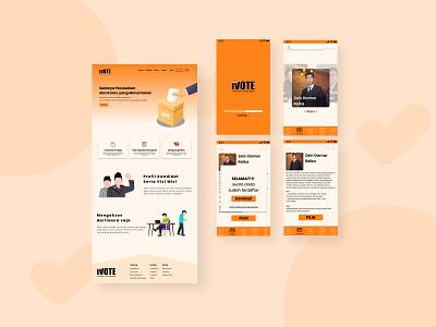Design Study Case E-voting ux figmadesign ui design figma